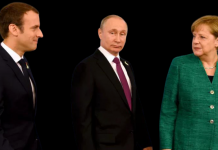 Владимир Путин, Ангела Меркель и Эмманюэль Макрон. Фото: www.globallookpress.com