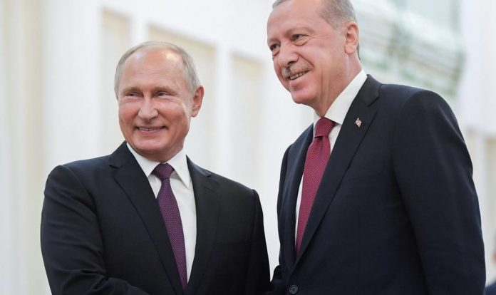 Президент РФ Владимир Путин и президент Турции Реджеп Эрдоган / Фото: social.politexpert.net